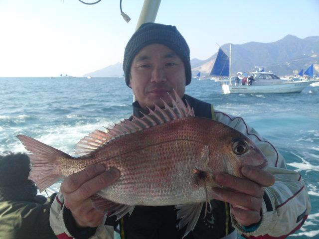 タイ釣り中